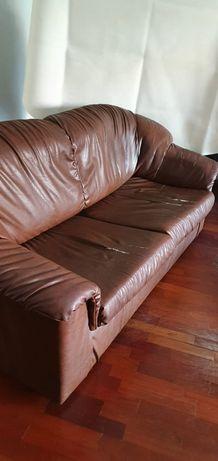 Sofá cama duplo e 2 sofás individuais