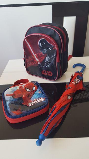 Plecak parasolka torba termiczna spiderman star wars