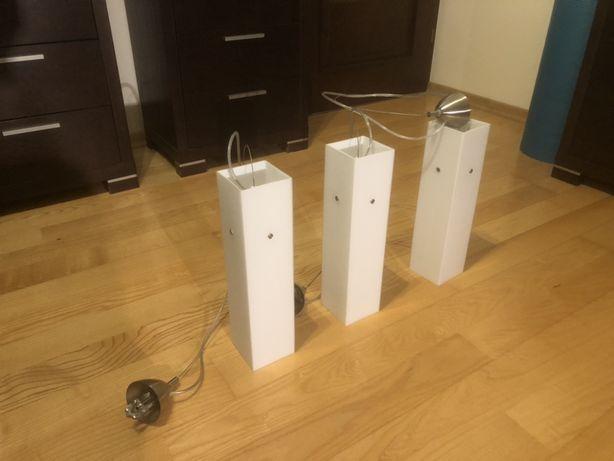Trzy Piękne sklane lampy wiszące, lampa wisząca
