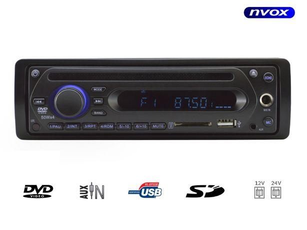 Radio samochodowe odtwarzacz Nvox Vtd288Sd Dvd Usb Sd Mic 12/24