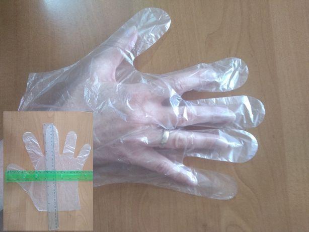 Rękawiczki foliowe jednorazowe L 100 szt