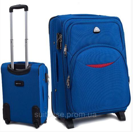 Малый чемодан-ручная кладь на 2-х колесах WINGS 1708 smile новинка