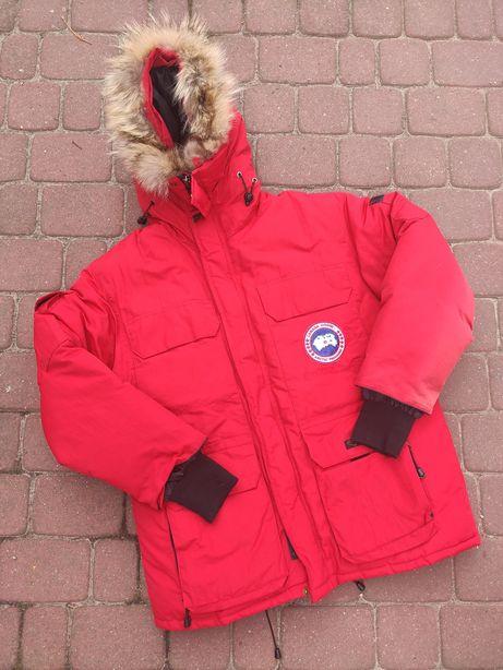 Kurtka zimowa puchowa z futrem Canada Goose L