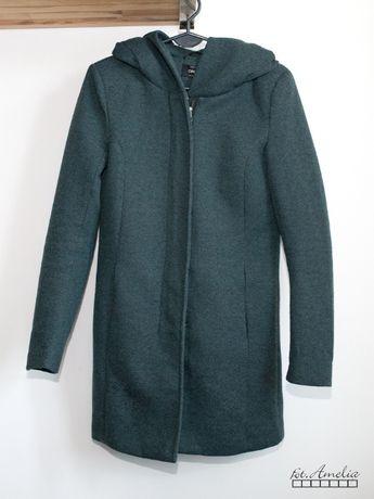 Only zielony płaszcz z kapturem XS