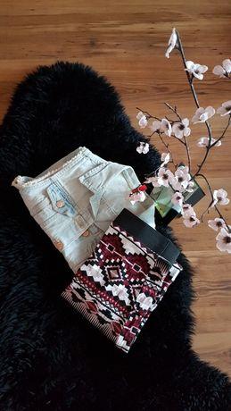 Cudny zestaw:) spódniczka ołówkowa kamizelka dżinsowa H&M roz XS/S