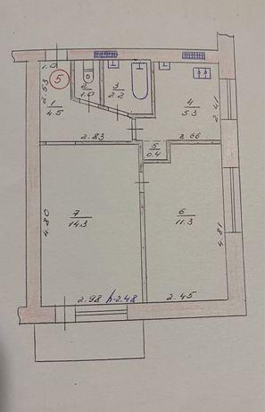 Продам 2-х кмн. квартиру в центре Балаклеи