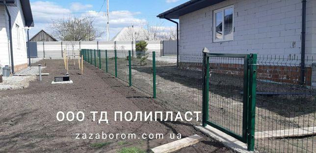 Сетка для забора 3D - забор из сетки в ППЛ покрытии для дачи и сада
