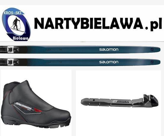 narty biegowe śladowe Salomon Snowscepe 7 buty biegowe Salomon, kije