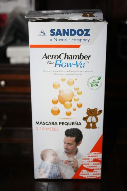 AeroChamber Plus Flow-Vu para crianças até 18 meses