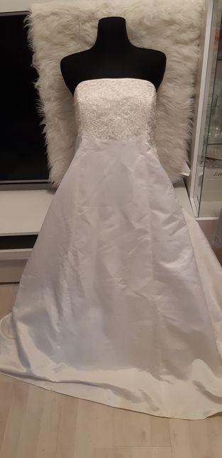 Suknia ślubna Biała Długa tanio s m 36 38