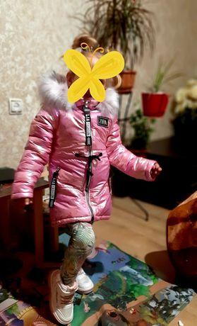 Куртка парка на девочку 92-98 зима