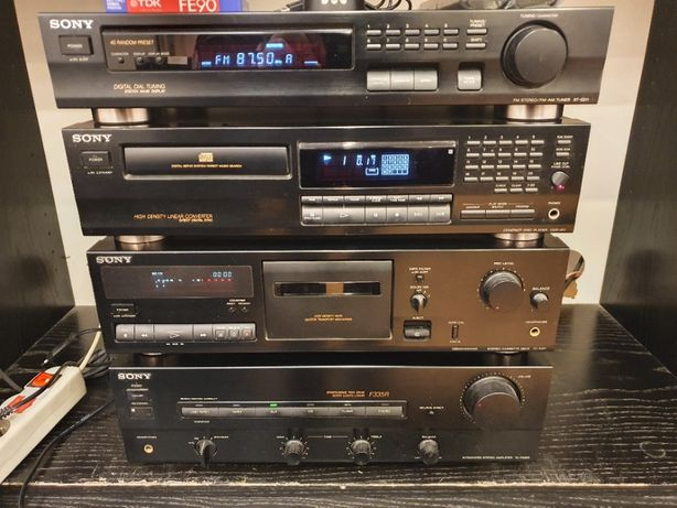 Zestaw audio wieża SONY i kolumny ALTUS 140 - stan idealny - OKAZJA!!!