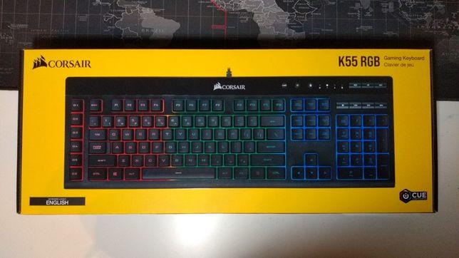 Corsair K55 Gaming RGB, klawiatura gamingowa, podświetlana