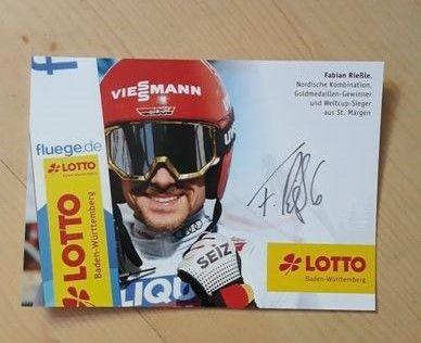 Autograf Fabian Riessle kombinacja norweska sport