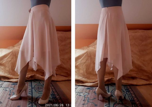 delikatna spódnica letnia różowa rozkloszowana Dorothy Perkins r. M