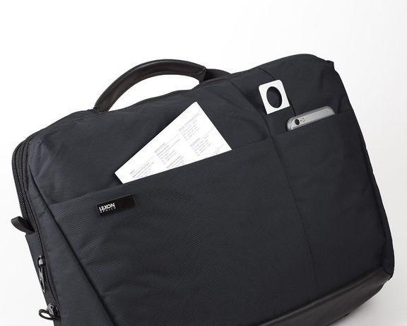 Torba Lexon dla rowerzysty, na laptopa - Czarna