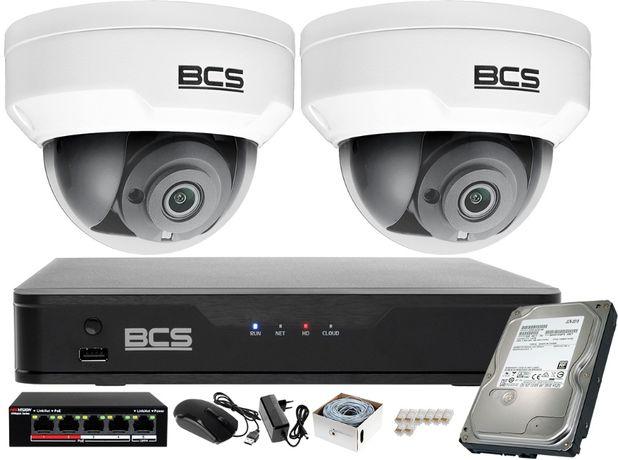 Zestaw do monitoringu Rejestrator IP BCS-P-NVR0401-4K-E + 2x Kamera