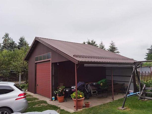 Garaż blaszany solidny duży
