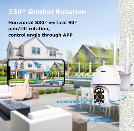 Camera Vigilância Exterior WIFI 5X ZOOM Visão Noturna 64GB - NOVO
