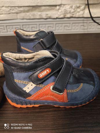 Детские демисезонные ботинки, размер 21-22, кожа натуральная, ортопед