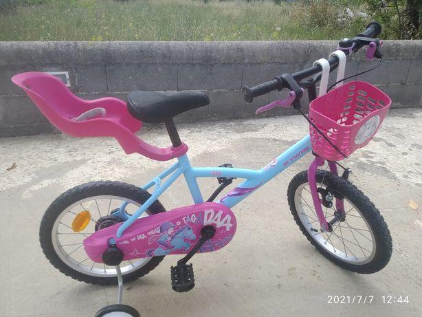Bicicleta menina roda 16 com extras