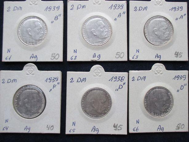 Zestaw srebrnych monet .Oryginały !!! 46