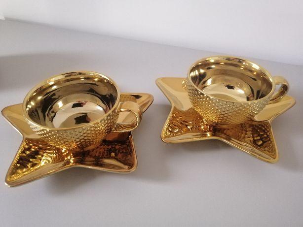 fliżanki home & you, złote, spodki gwiazdy rezerwacja do 10.12