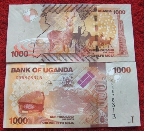 UGANDA 1000 SCHILINGI Kolekcjonerski Banknot - 1 sztuka UNC