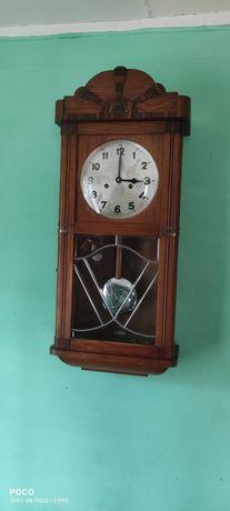 Zegar skrzyniowy drewniany wiszący