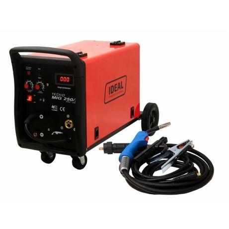 Migomat spawarka komplet kabli uchwyt MIG 250A zasilanie 230 V i 400V