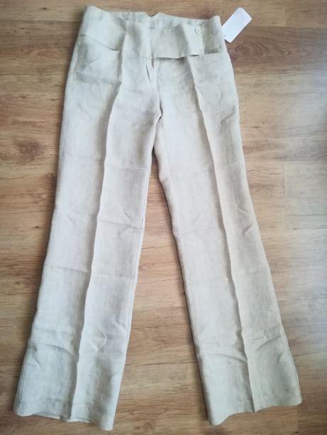 Nowe spodnie Orsay, idealne na cieplejsze dni, 100% len