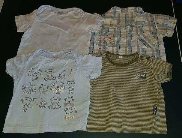 Podkoszulki, koszulki z krótkim rękawem, polo T-shirt r.68 i 50-56