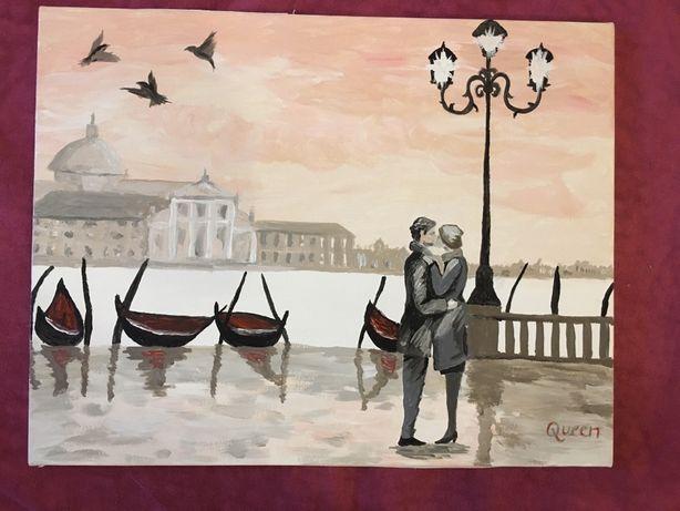 Картина на холсте красками Романтическая Венеция 35х45