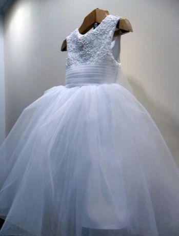 """Детское пышное платье """"White snow """"."""