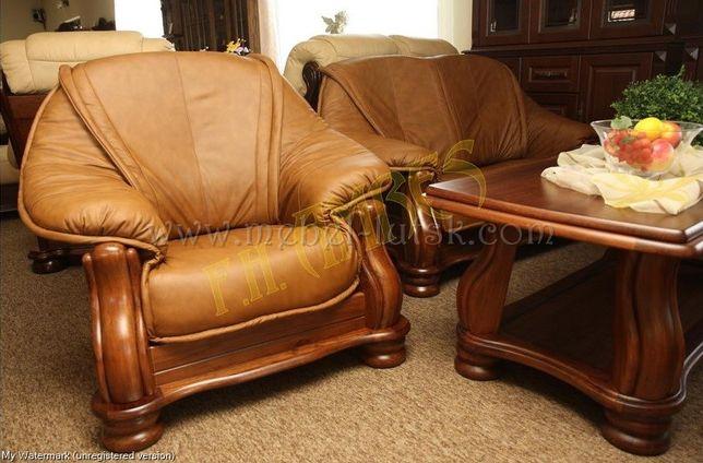 Производитель, кожаный диван и 2 кресла Cabaro