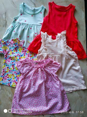 Платья h&m размер 4-6 месяцев
