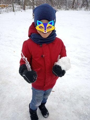 Куртка пуховик деми еврозима Zara зимняя на 6-7 лет