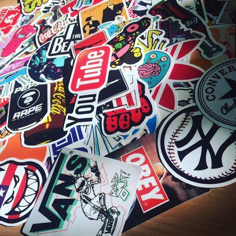 Стикербомбинг 100 шт,Стикеры, Sticker Bombing, Стикер бомбинг,Наклейки