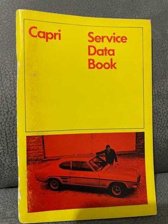 FORD CAPRI Service data book December 1968 uso interno Ford empregados