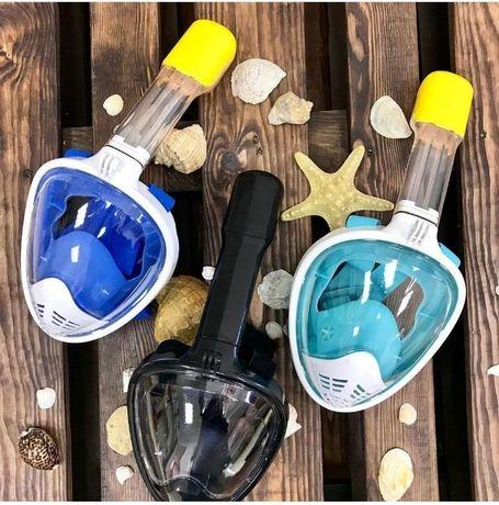 Панорамная маска для плавания, снорклинга, для детей и взрослых