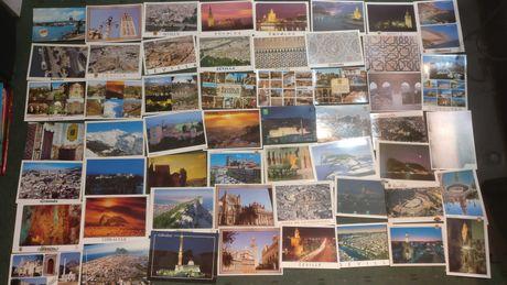Lote 400 postais estrangeiros Não Circulados