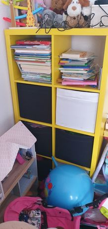 Kallax Ikea żółty bez pojemników