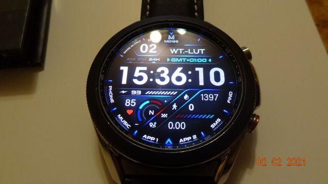 Samsung Watch 3 45mm LTE dodatki +pasek silikon + 3 nowe szkła