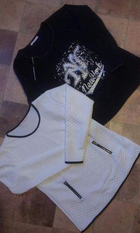 Zestaw ,dwie bluzki na długi rękaw stan idealny L-Xl