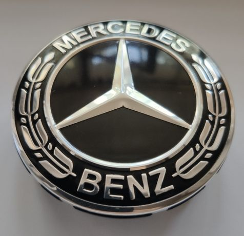 Колпачки на литые диски Мерседес черные Mercedes-Benz A1714000025