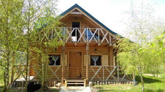 drewniany domek z bala dostępny od 15 września