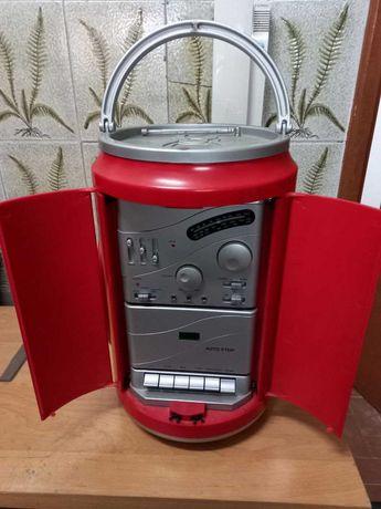 Leitor de cassetes e Radio da Coca-Cola (Vintage)
