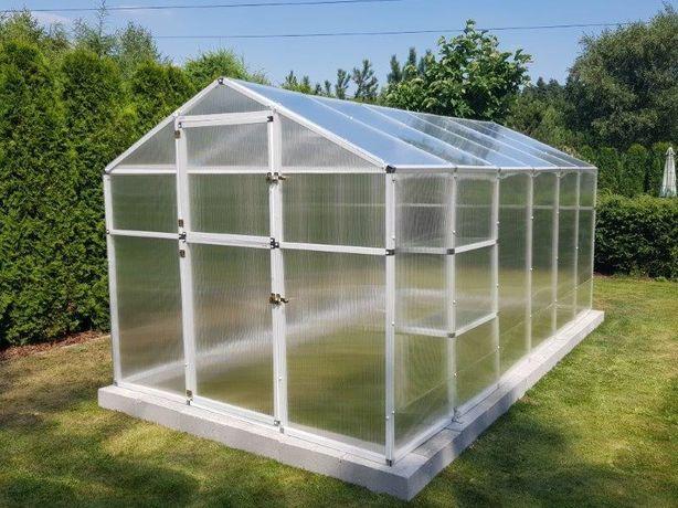 Szklarnia ogrodowa z poliwęglanu PVC mocna 5,7m2 - 211x271cm