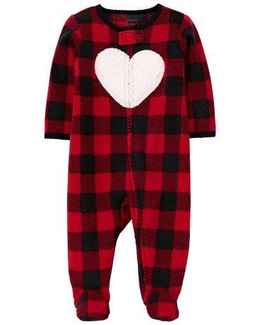 Флисовый человечек Carters, Картерс, слип на флисе, пижама, комбинезон
