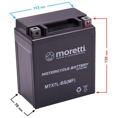 Akumulator motocyklowy żelowy MTX7L-BS 7 Ah YTX7L-BS 80 zł